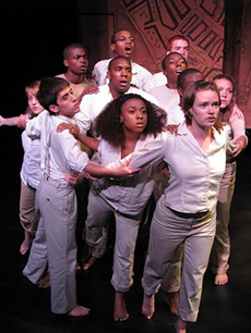 (Students perform as part of Creative Arts Team's youth theatre program)