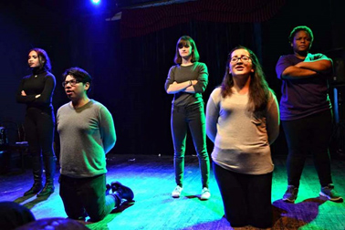 (Students perform as part of Collaboraction's after-school program. (Photo by Alma Dominguez))